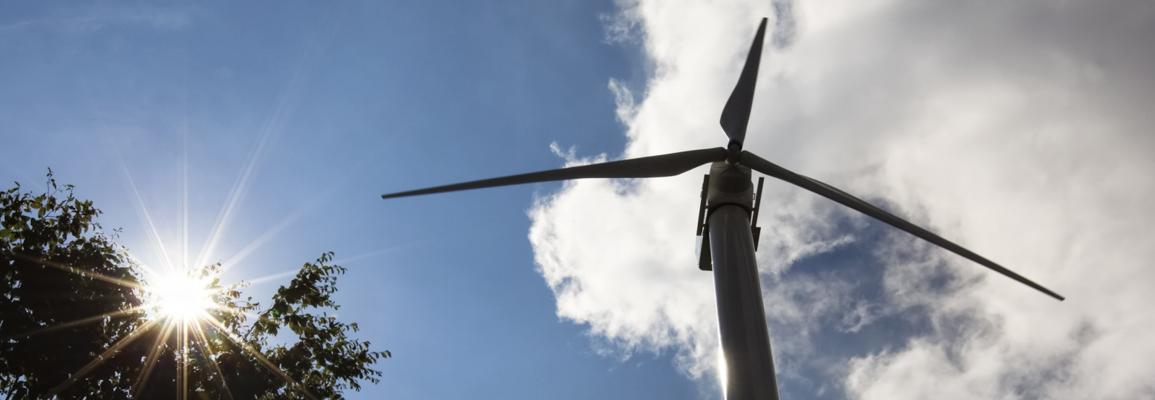 Wind Turbine on campus