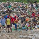 Waste pickers in a landfill