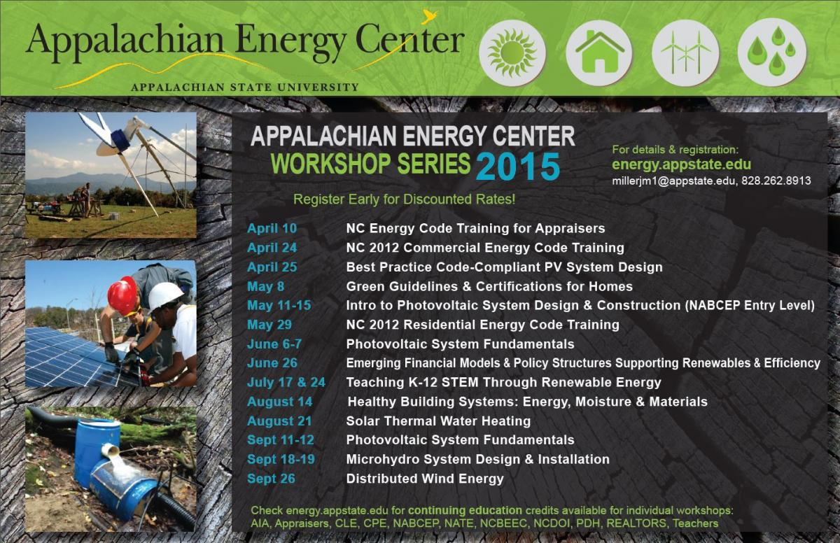 2015 Workshop Series