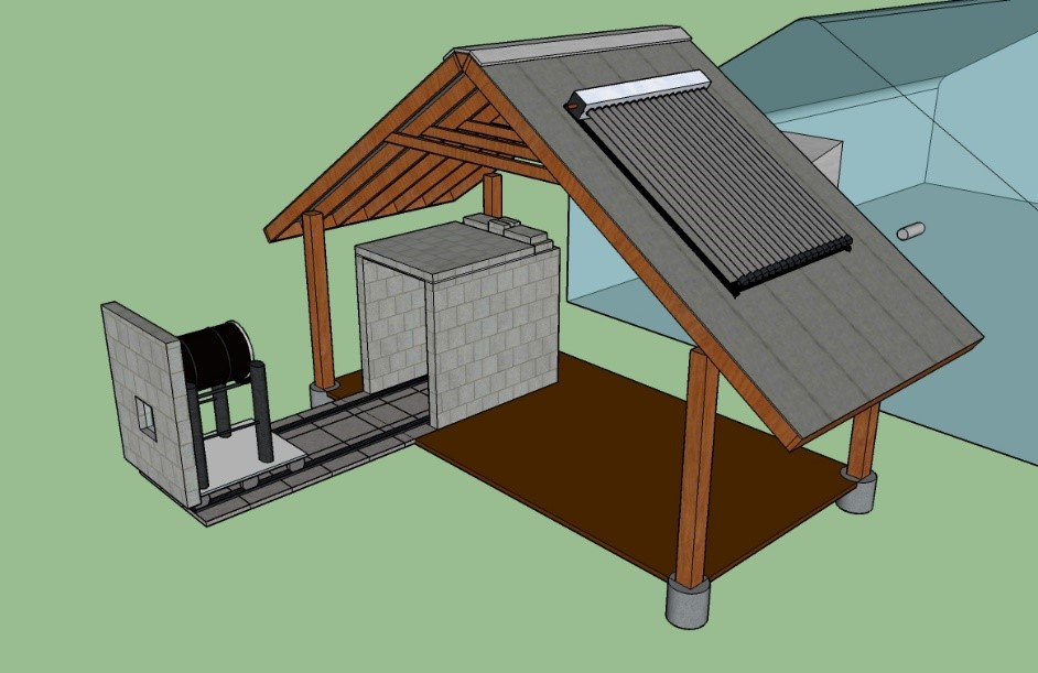 Biomass Heating System Rendering