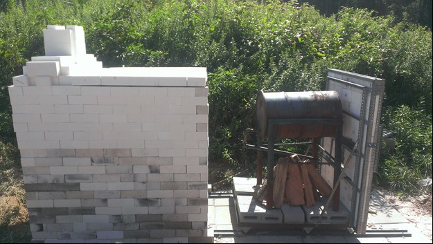 Biomass Heating System in progress