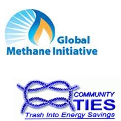 global methane initiative logo community ties trash into energy savings logo